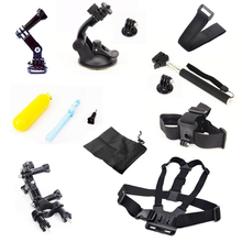 For Gopro Equipment Package Chest +Head Strap+Floating Grip +Handlebar Seatpost + Monopod +Suction Cup For GoPro Hero 1 2 Three Three+