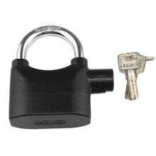 Black Waterproof Siren Alarm Padlock Alarm Lock for Motorcycle Bike Bicycle Perfect Security with 110dB Alarm Pad locks Hot Sale