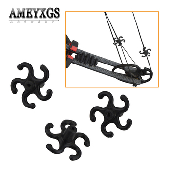 4pcs Bowstring Stabilizer Shooting Training Strings Shock Absorber Rubber Silent Damper Bow Hunting Sports Archery Accessories