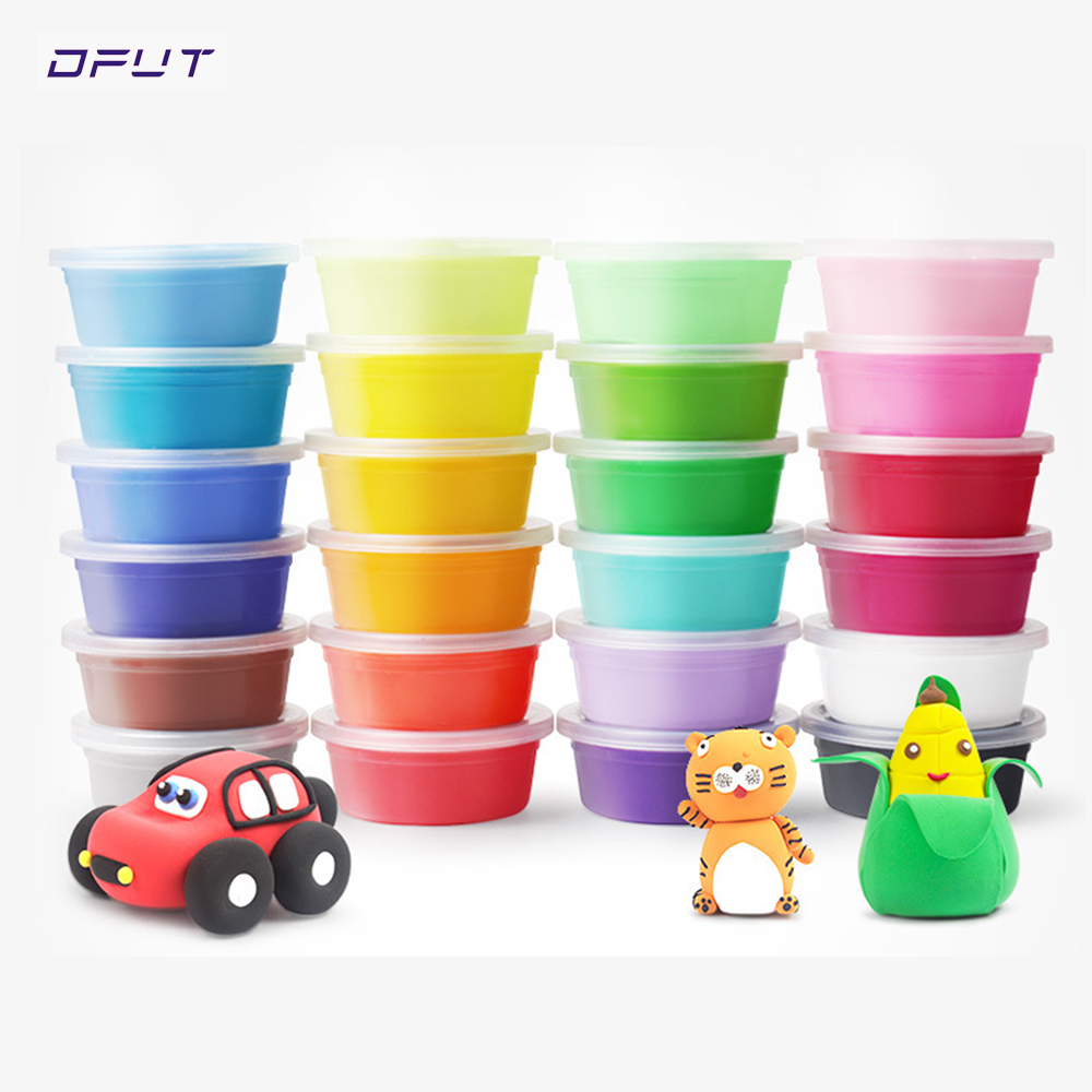 24 Colors / 36 Colors Super Light Modeling Clay Set Air Dry Soft Plasticine Plastilina Play Dough Playdough Polymer Clay DIY Toy