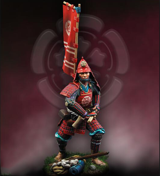 Assembly Unpainted <font><b>Scale</b></font> <font><b>1/24</b></font> 75mm ancient japan warrior with sword 75mm <font><b>figure</b></font> Historical Resin Model image
