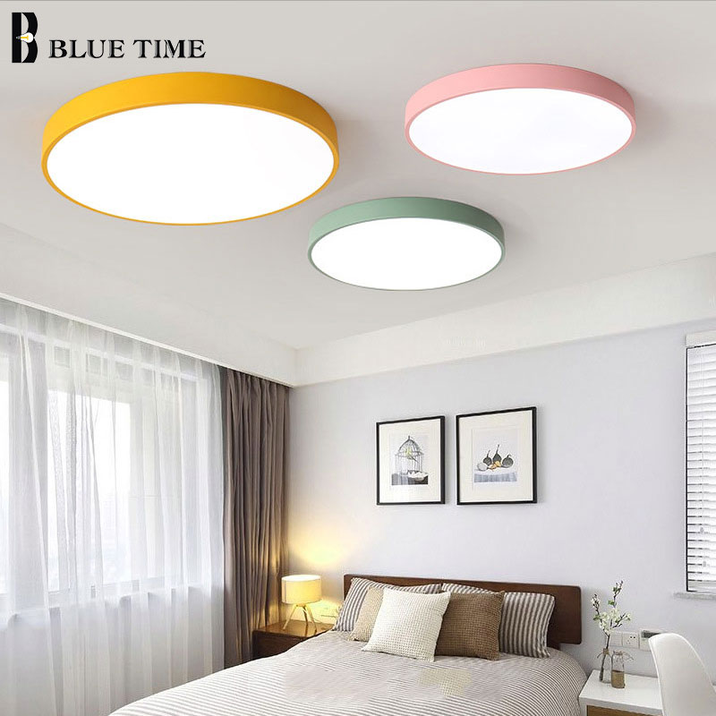 Image 3 - 5cm Super Thin Ceiling Light for bedroom Living Room Bedroom Kitchen Surface Mount Remote Control ceiling lamp home lighting-in Ceiling Lights from Lights & Lighting