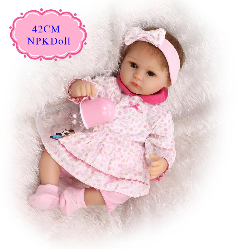Princess 42cm 17inch Silicone Baby Dolls For Sale With Pink Baby Doll Clothes New Design Reborn Baby Doll Beneca Baby Alive Doll cute 17 silicone baby dolls for sale with lovely high quality bear clothes bonecas baby alive most hot sell brinquedo menina