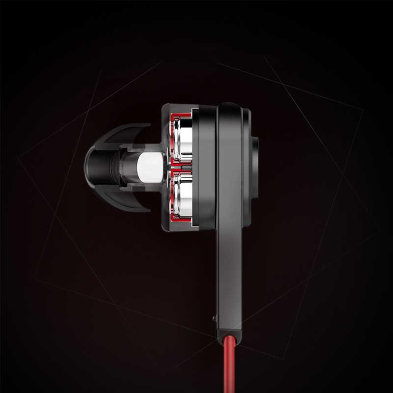 Słuchawki UiiSii T6 HIFI głęboki bas słuchawki podwójny sterownik izolacja akustyczna profesjonalne słuchawki z mikrofonem mikrofonem słuchawki douszne do smartfona