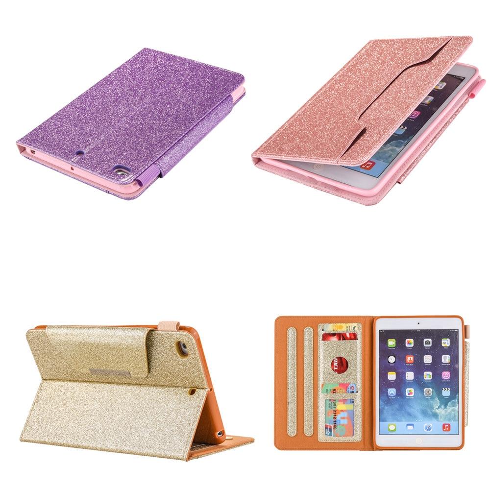 PU Leather Soft TPU Back Cover Luxury Gold For iPad Mini2 MIni3 For Apple iPad Mini 1 2 3 4 7.9 inch Case Auto Sleep /Wake Up