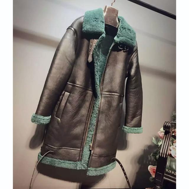 Aliexpress.com : Buy Black Sheepskin Shearling Coats Fur Women ...