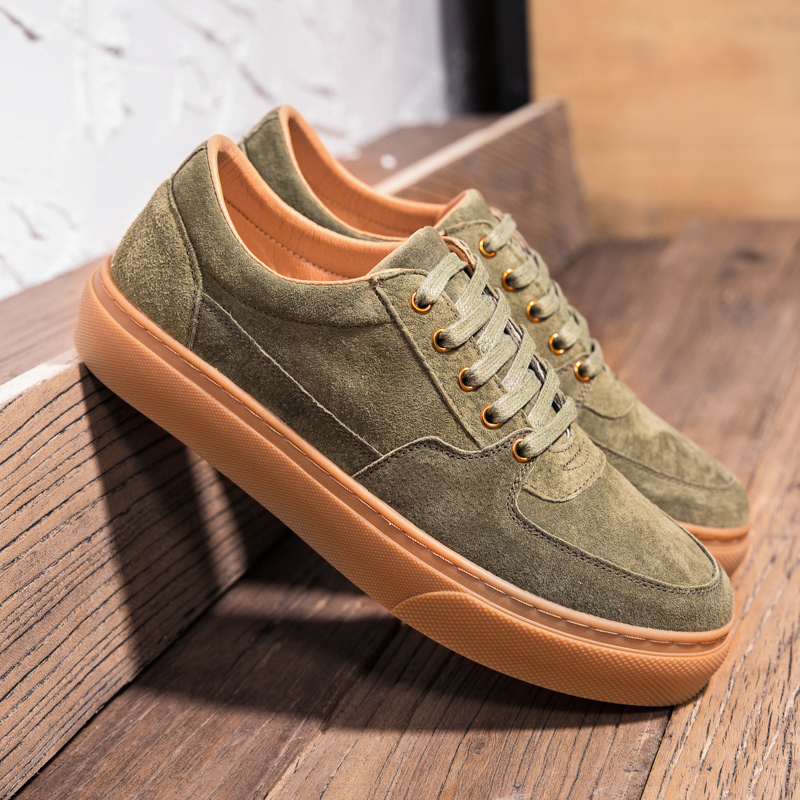 Different Colors Walking Shoes For Men   Leather   Casual Male Sneakers Rubber Bottoms Mens Casual Shoes Good Quality Brand Footwear