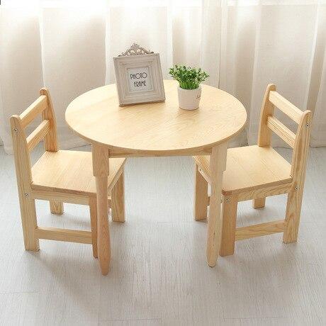 Enfants meubles en bois massif ensembles enfants table et - Table et chaise enfant bois ...