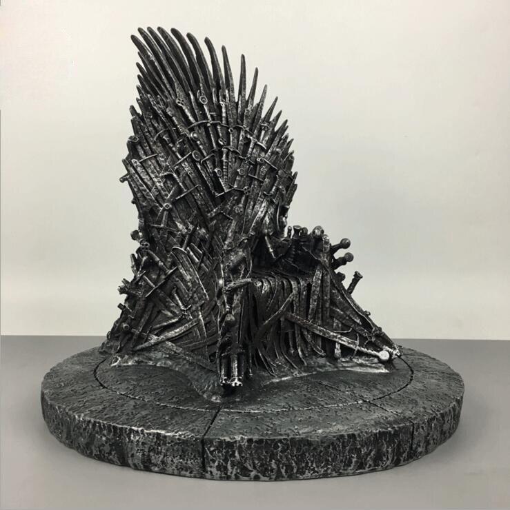 Grande taille trône de fer jeu de trônes résine Statue Moderne jouet 36 cm Action & Figures Sculpture haute qualité jouets cadeau de noël