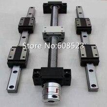 12 zestawy + 3 x SFU605-300 HBH20CA Kwadratowy prowadnicy Liniowej/600/900mm zestawy Ballscrew + BK BF12 + 3 szczęki Elastyczne Sprzęgła Plum łącznik