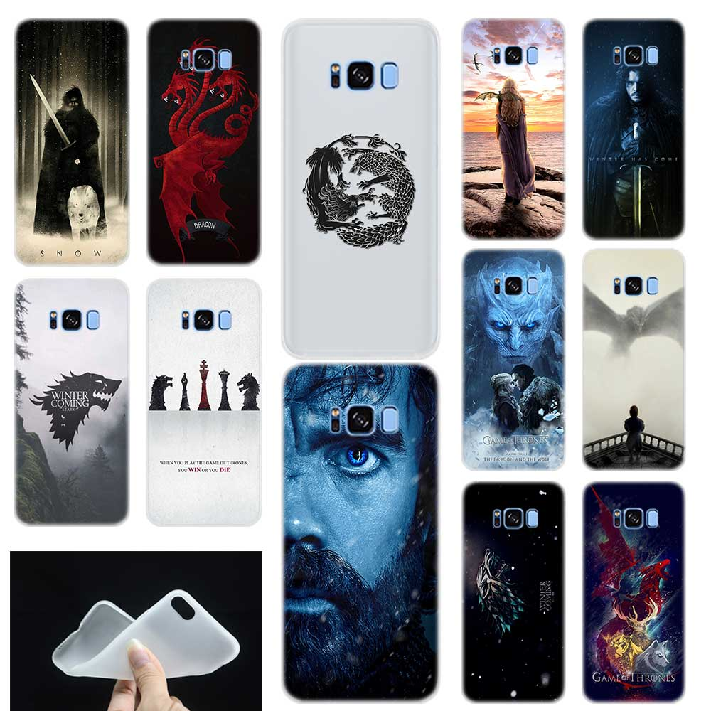 Game of Throne poster Soft TPU Silicone Phone Back Case Cover For Samsung Galaxy S6 S7 Edge S8 S9 S10 plus E Note 8 9 10 pro