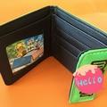 Minecraft JJ culpar Wallet Purse Pu de cuero de la cartera verde juego Minecraft mi mundo bolso de la tarjeta monedero 9.8 * 11.1 cm