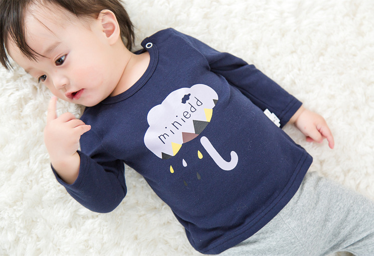 2017 Toddler Kids Baby Boys Girls Infant spring Autumn Long Sleeve cartoon Fox T-Shirt Tops Clothing Cotton cloud rain T-Shirts (35)