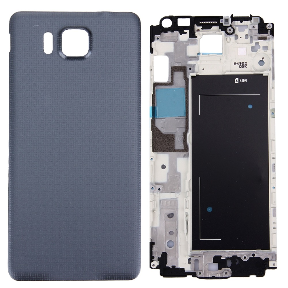 Full Housing Cover Replacement(Front Housing <font><b>LCD</b></font> Frame Bezel Plate + Battery Back Cover Replacement) <font><b>for</b></font> <font><b>Galaxy</b></font> <font><b>Alpha</b></font> / <font><b>G850</b></font> image