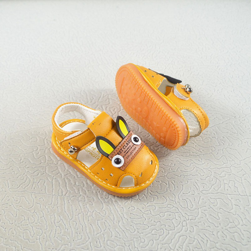 2019 Summer Infant Shoes Sandals Cartoon Animal Pattern With Sound Soft-Soled Baby Shoe Sandals
