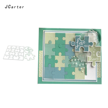 JC New Metal Cutting Dies and Rubber Stamps Stencil Fun Puzzle Craft Cut Die Scrapbook DIY Handmade Album Paper Cards Decor Dies cheap JCarter Square Irregular Figure JC003 Fun Puzzle Metal Cutting Dies and Rubber Stamps 140*140mm 130*85mm