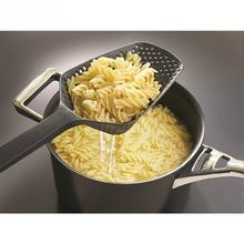 Black Large Strainer Scoop Colander gadgets Drain Veggies water Scoop gadget kitchen Accessories