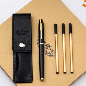 Image 5 - Luxury Business Replaceable refills Ballpoint pen Golden Clip Ball pen for gifts Office Signing Pens Stationery supplies 2007