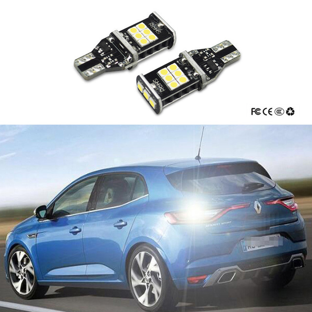 2x t15 1156 7506 canbus led auto back up reverse verlichting voor renault megane 2 3