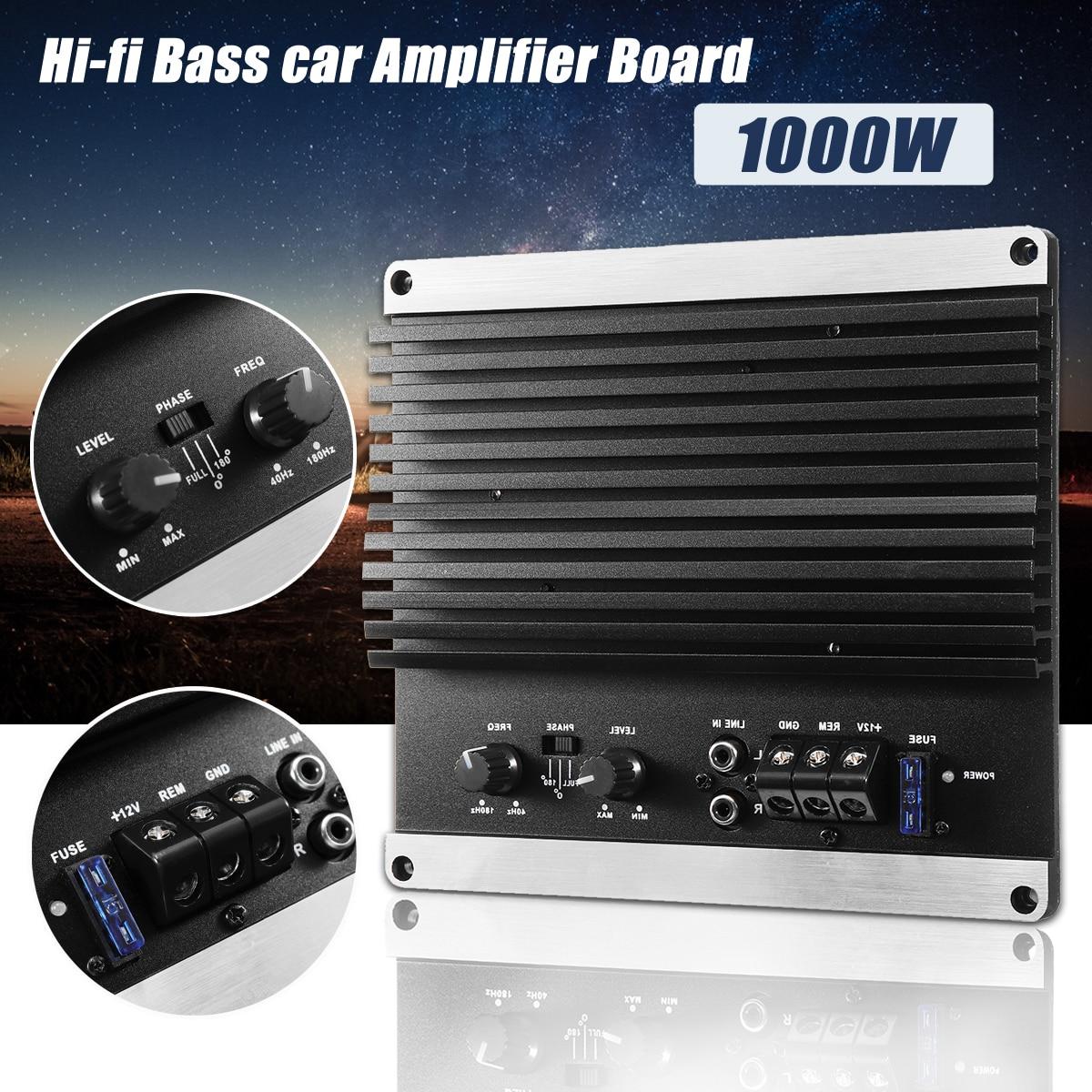 4 Channel Car Amplifier Audio 2000w 12db High Power Amplifiers 1600w Digital Bridgeable Pro Kit 12v 1000w Mono Amp Board Powerful Bass Subwoofers