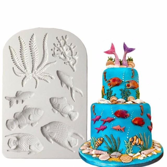 Silicone Fondant Mold Cake Decorating DIY Chocolate Baking Mould Tools Lot P