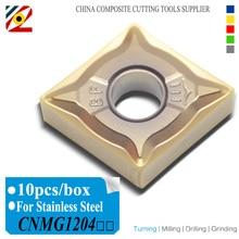EDGEV CNC عدة المخرطة كربيد إدراج CNMG120404 CNMG120408 CNMG431 CNMG432 التنغستن شفرة الفولاذ المقاوم للصدأ