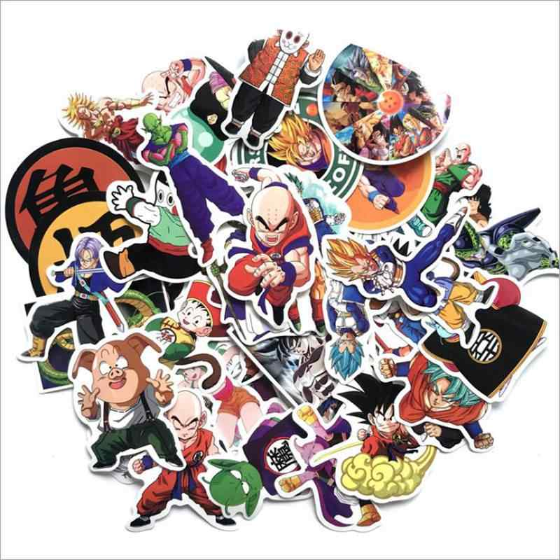 2018 50 teile/los Anime Dragon Ball Aufkleber Super Saiyan Goku Aufkleber Aufkleber Für Snowboard Gepäck Auto Kühlschrank Laptop Aufkleber