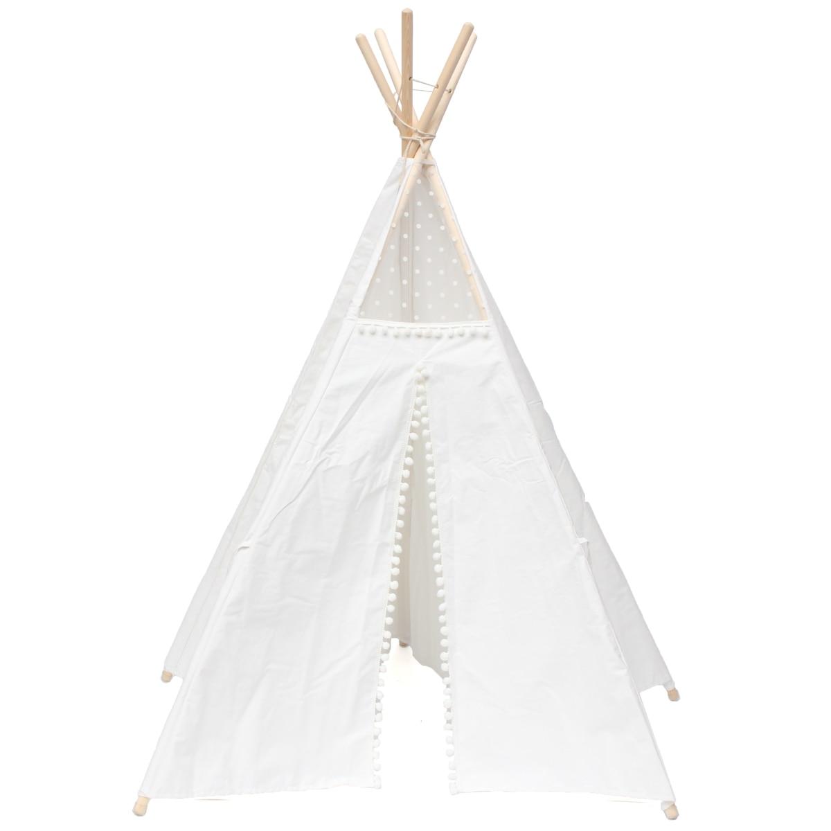 Grande toile de coton Tipi Original enfants Tipi avec tente de jeu indien maison enfants en plein air intérieur Tipi Tee Pee tente blanc