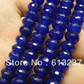 Hot Sale Blue Jade Jasper stone 5x8mm Faceted Rondelle Abacus Loose Beads High Grade Women Diy Spacer Jewelry 15inch GE4135