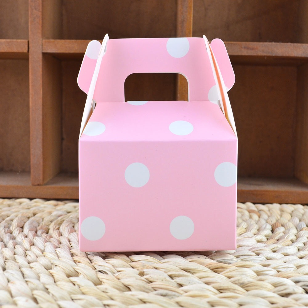 50Pcs Colorful Polka Dots Printed Paper Horn Cake Candy Boxes Small ...
