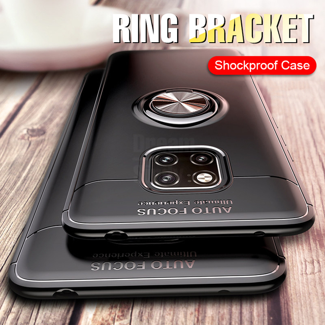 De Lujo anillo magnético suave caso en el para Huawei P20 amigo 20 Pro cubierta del teléfono para Honor 9 Lite 10 8X MAX funda de silicona a prueba de golpes