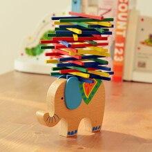 Bebê Elefante e Camelo Equilibrar Blocos Blocos de Construção de Brinquedos Educativos Brinquedos De Madeira de Faia de Madeira Jogo de Equilíbrio Presente Para Criança