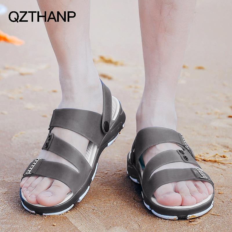 2018 Mode Lässig Männer Sandale Schuhe Männer Sommer Männlichen Schuhe Erwachsene Schuhe Männer Licht Weiche Skidproof Zapatos Hombre Hohe Qualität HüBsch Und Bunt