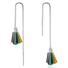 XIYANIKE – boucles d'oreilles tricolores en argent Sterling 925 pour femmes, longues, à la mode, bijoux de fête de fiançailles, cadeau, nouveau, VES7183