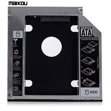 Maikou 12,7 мм SATA 2nd SSD HDD жесткий диск Caddy для DVD-ROM/CD-черный