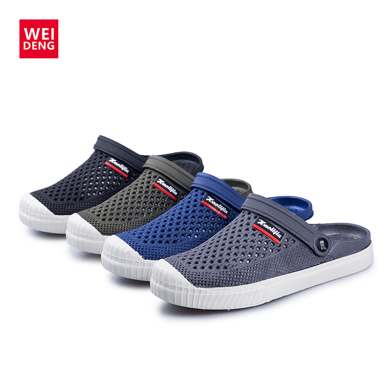 Weideng Water-Shoes Croc Sandals Antiskid Sneakers Slip-On Comfortably Sports Breathable