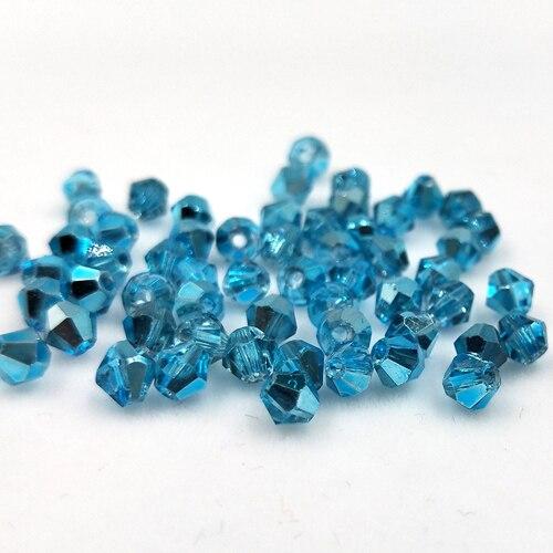 Новинка 5301 4 мм 1000 шт стеклянные кристаллы бусины биконус граненый свободный разделитель бисер бусины Fantas AB DIY Изготовление ювелирных изделий U выбор цвета - Цвет: 230