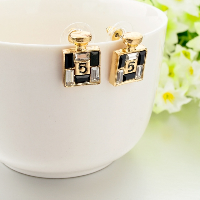 Gold Channel Earrings