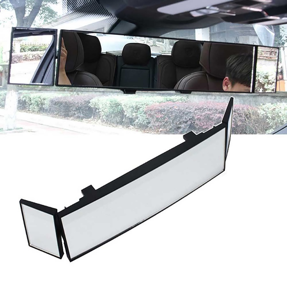 Car Three Folds Curved Surface On Rear View Mirror Convex Mirror Wide Angle Rear View Mirror Auto Car Interior Mirrors