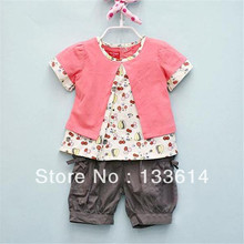 3 Stücke Kinder Baby Mädchen Outfits Obst Muster Top + Hosen + Hut Kleidung Set Outfits 0-3 Jahre XL045 Free & Drop Shipping