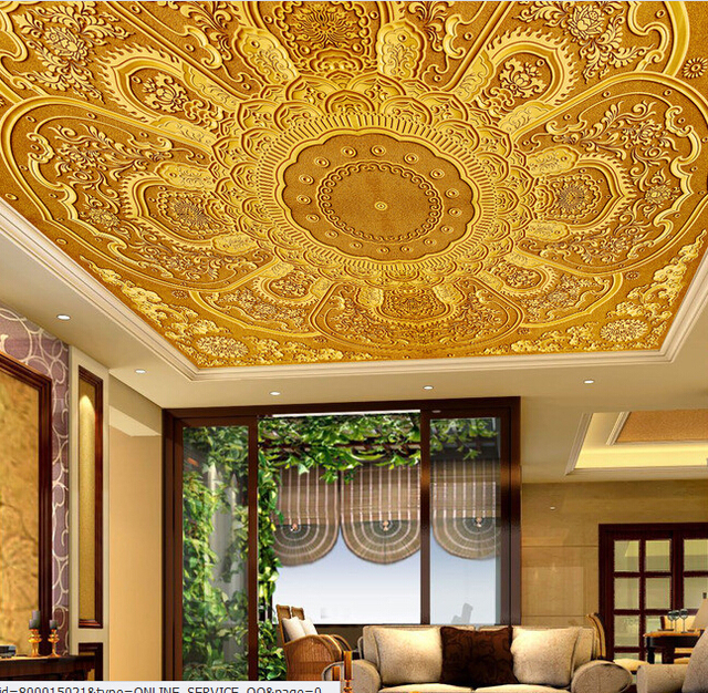 Comprar custom 3d papel pintado techo for Murales decorativos dormitorios