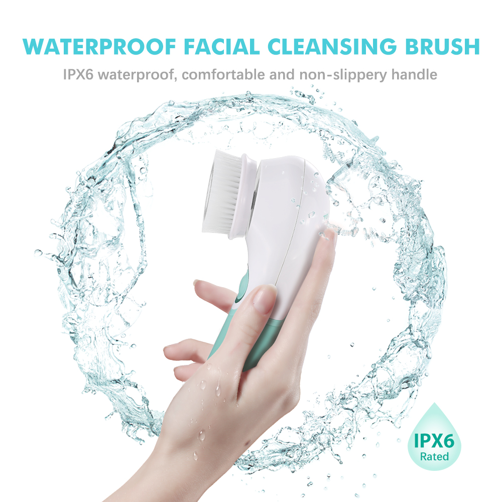 Image 5 - TOUCHBeauty Waterproof Facial Brush Deep Cleansing Set with 3 Different Spin Brush Head,two speed face cleansing device TB 14838brush headbrush brushbrush cleansing -
