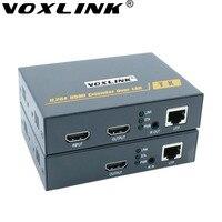VOXLINK H.264 HDMI 익스텐더 200 메터 넘 TCP/Cat5e/6 1080 마력 HDMI 송신기 수신기 IR TX/RX 터미널 HDTV TV 상자