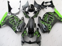 Fairing EX250 2013 Abs Fairing Ninja 250R 2012 2008 2014 Black Green Flame Full Body Kits