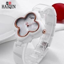 цены New Quartz Watch HAIQIN Women's Watches Ceramic Waterproof Ladies Wrist Watch Quartz watches For Women Dress Wristwatch relogio
