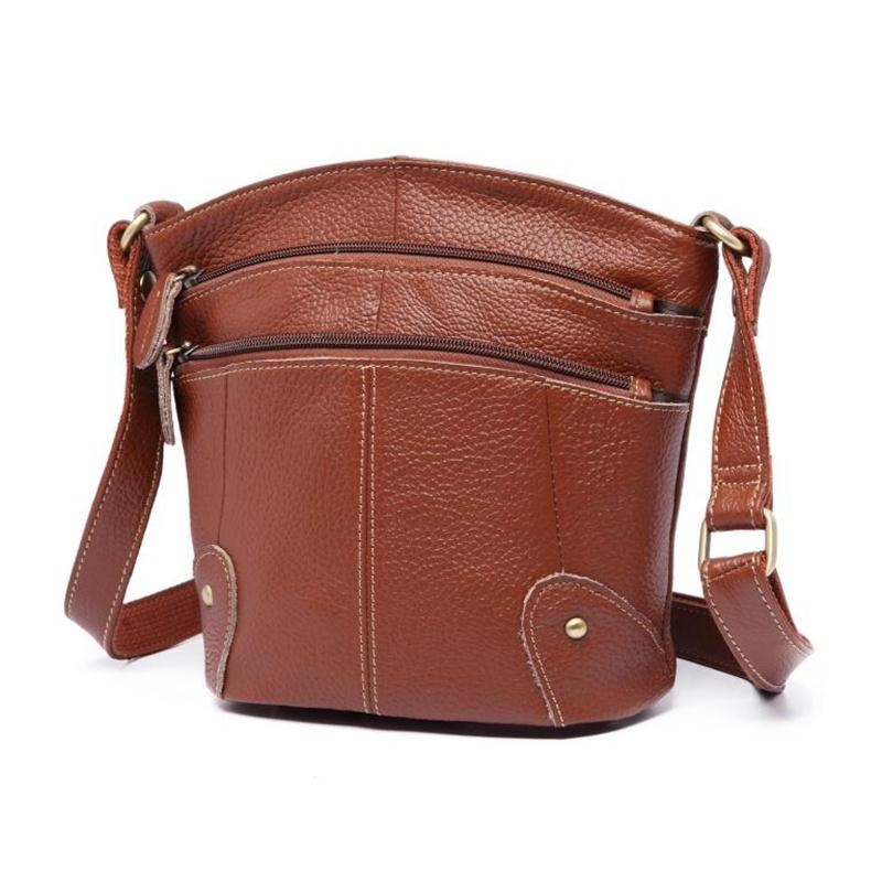 2018 New European Women Genuine Leather Bag Women Messenger Bags Vintage  Female Tote Shoulder Bags Leather Women Crossbody Bag-in Shoulder Bags from  Luggage ... 001be2a1e2