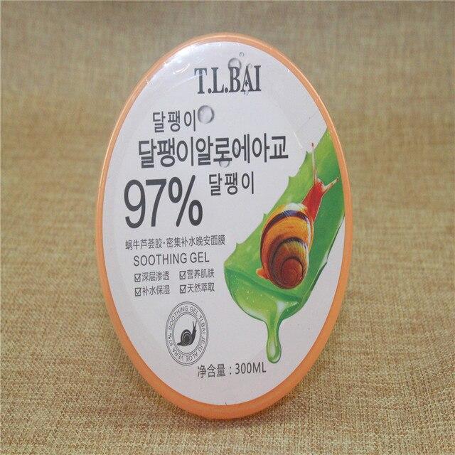 T.L.BAI Snail Aloe Vera Gel Face Mask Whitening Hydrating Moisturizing Facial Mask Anti Aging Depth Replenishment Face Care F079