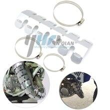 YUANQIAN モト排気マフラーパイプ脚プロテクター熱シールドカバー KTM EXC 250 400 450 530 525 冒険 990 1190 950 640