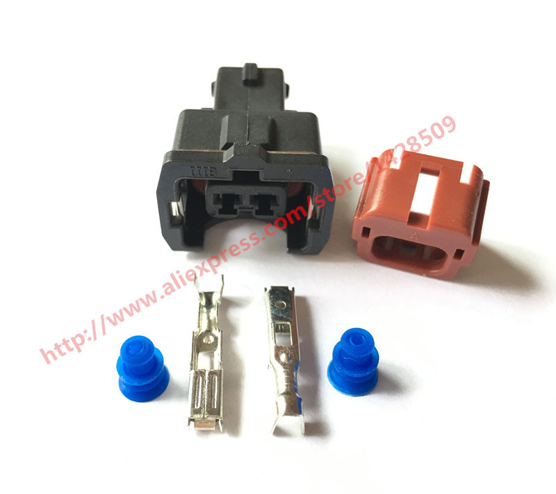50 100 Sets AMP 2 Pin PA66 Female Waterproof Wire Harness Auto Connector DJ7023YB 3 5