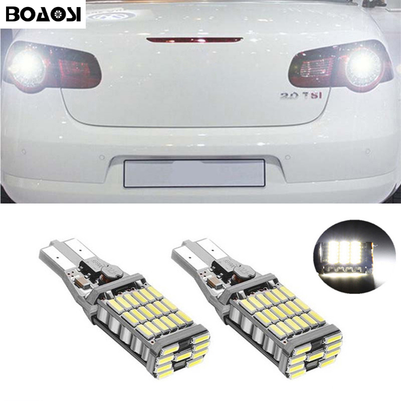 BOAOSI 2x Error Free Rear Reversing Tail Light T15 W16W For VW tiguan passat b7 Sharan Scirocco Skoda Superb New MAGOTAN Seat